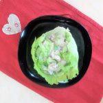 Coppa di iceberg con pescespada marinato