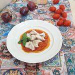 Bocconcini di pollo su friggione bolognese