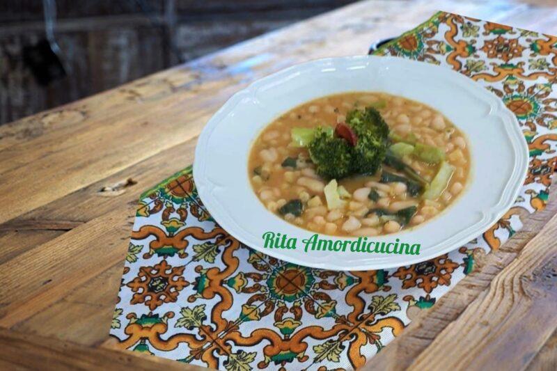 Cannellini con tubetti e cimette di broccoli