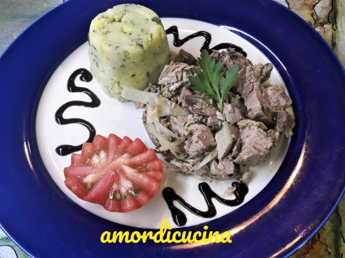 Tonno e patate con riduzione in agrodolce