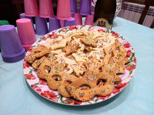 I biscottini delle feste con la granella colorata