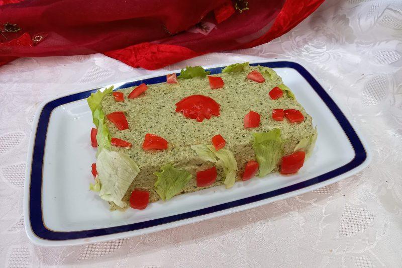 Cheesecake con broccoli e fiocchi di latte