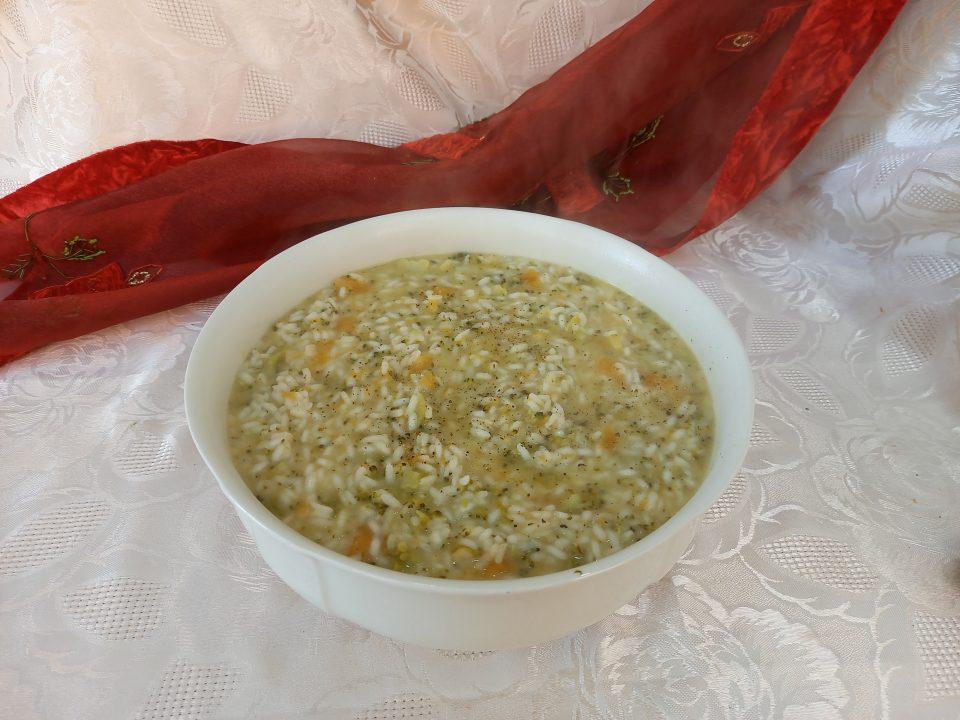 Risotto broccoli  zucca parmigiano