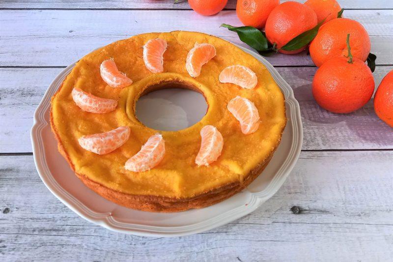 Ciambella dietetica con frullato di clementine
