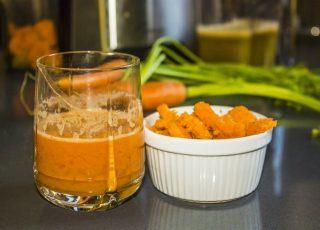Smoothie carota mela e arancia