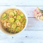 Spaghetti leggeri zucchine e gamberoni