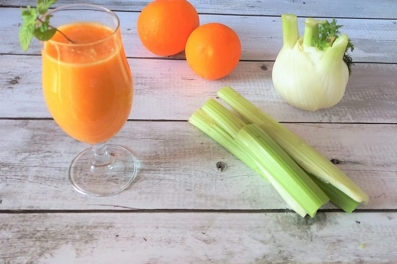 Smoothie diuretico drenante e antiossidante