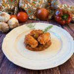 Involtini di lonza con caponata siciliana