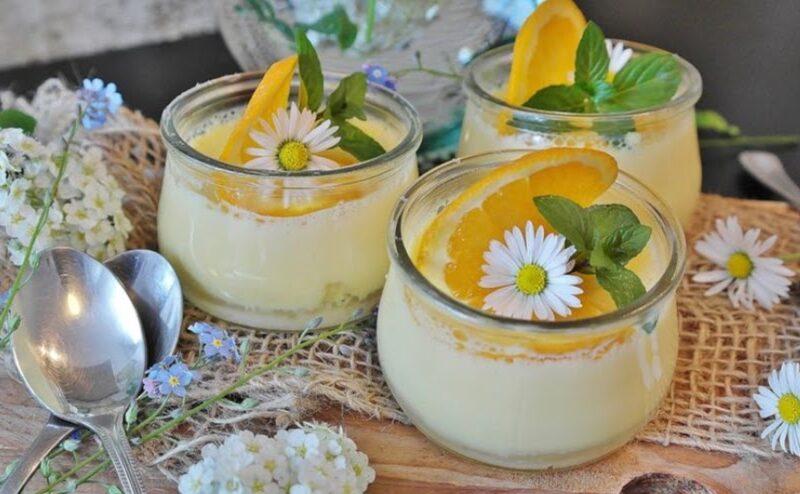 Mousse al mango e arance siciliani