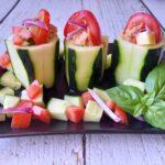 Antipasto con cetriolo finger food