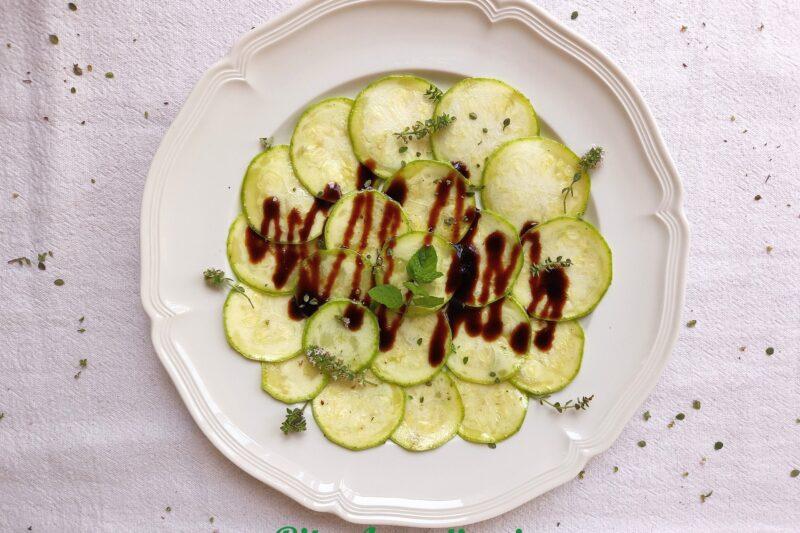 Contorno di carpaccio di zucchine