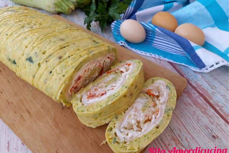 Rotolo di frittata con zucchine ligth