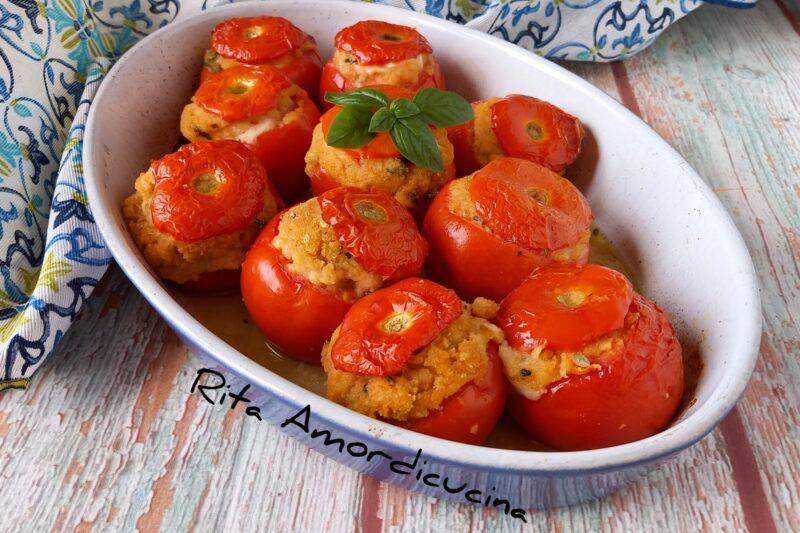 Pomodori  al forno ripieni alla siciliana