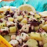 Antipasto di polpi e patate in insalata