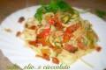 Linguine con zucchine,pomodorini e pancetta