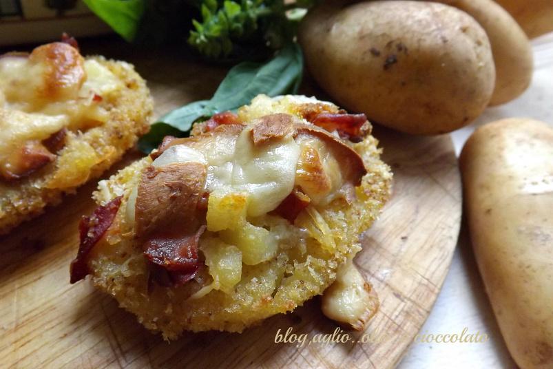 patate ripiene croccanti e filanti
