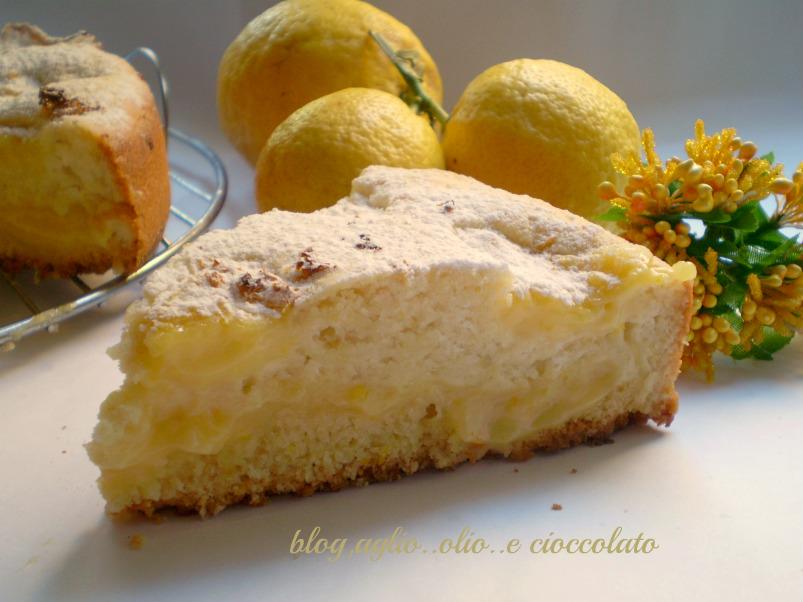 torta al limone cremosa con gli albumi