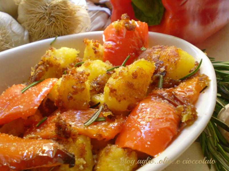 patate e peperoni sabbiati