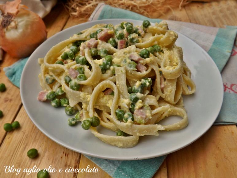 Fettuccine alla papalina ricetta tipica romana semplice e for Pasta tipica romana