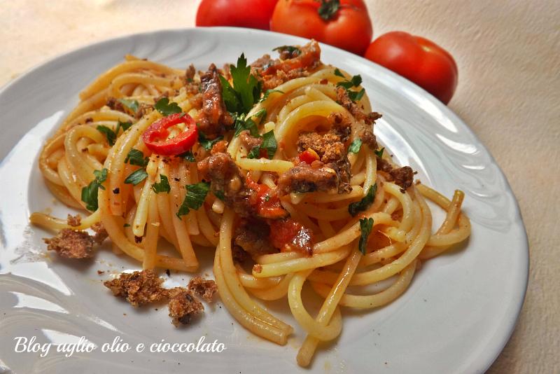pasta aglio olio e peperoncino croccante