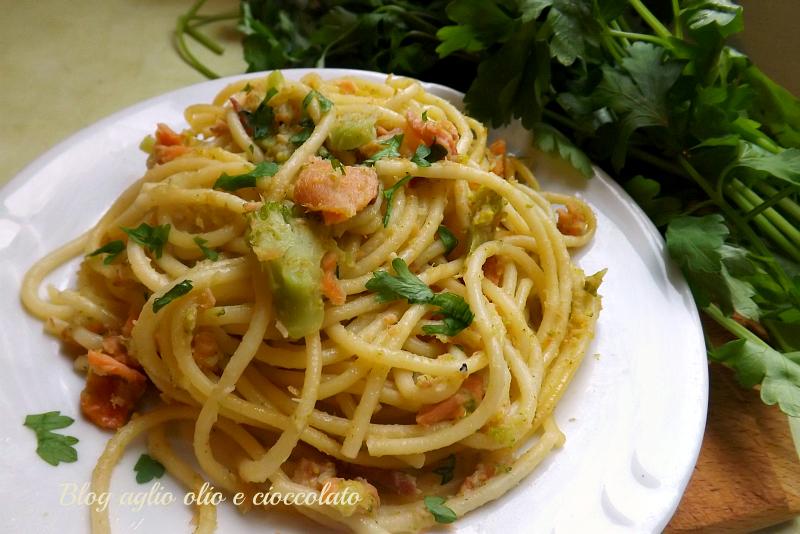 pasta con salmone broccoli e pancetta