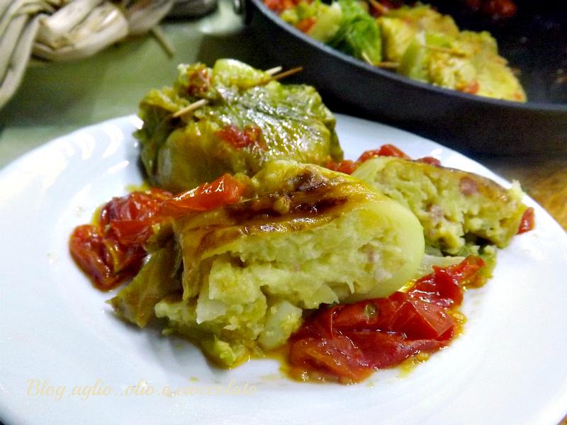 Fagottini Patate e Cavolo Verza