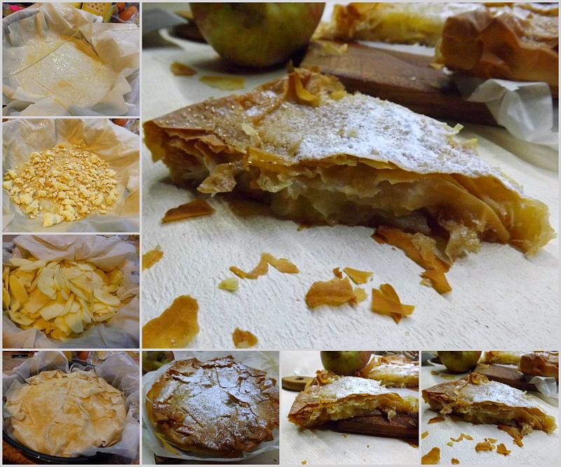 Torta di mele croccante