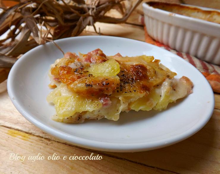 tortino di patate cacio pepe e salsiccia