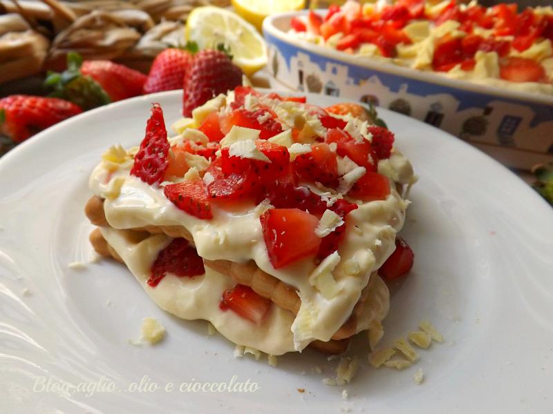 Torta fredda con Mascarpone Limone e Fragole