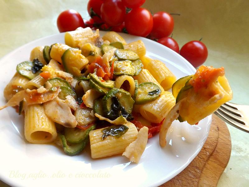 ricerca ricette con pasta pesce spada e zucchine