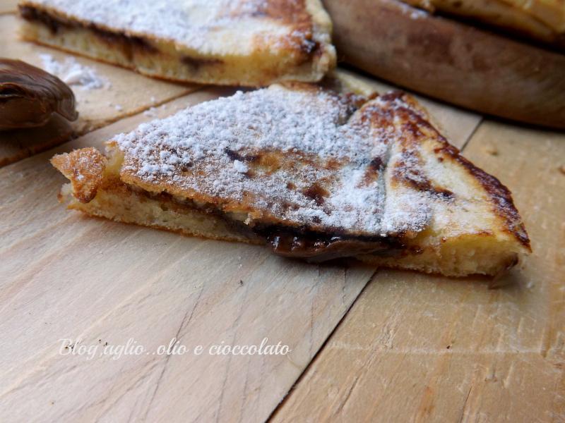 Pancake ripieni con la nutella
