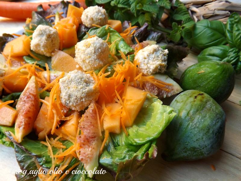 Insalata con Formaggio Fichi e Melone
