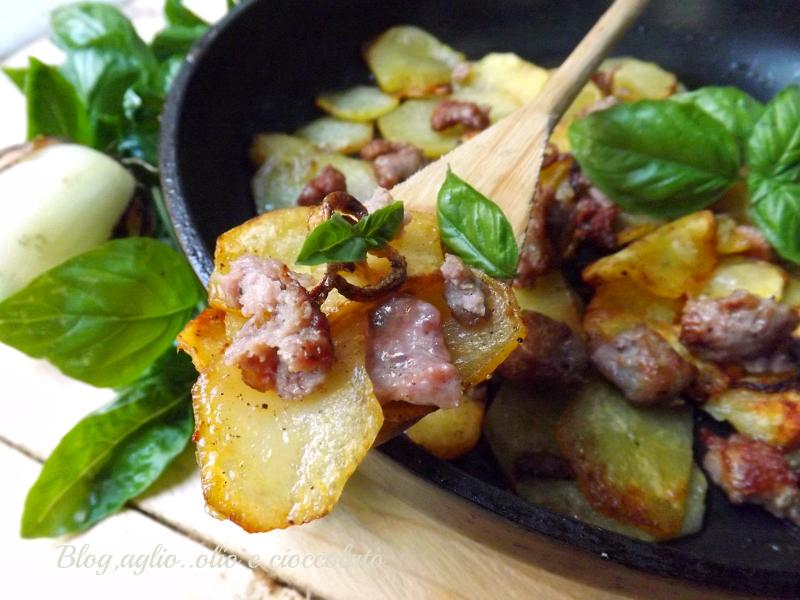 Patate alla gricia for Piatto tipico romano