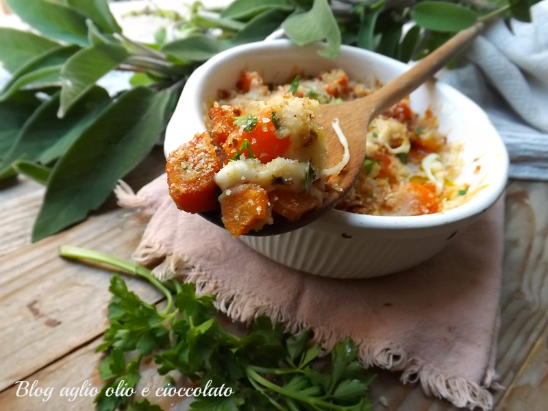 carote con provola gratinate