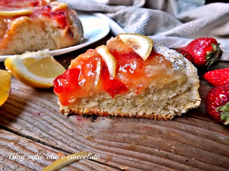 torta limone e fragole cremosa