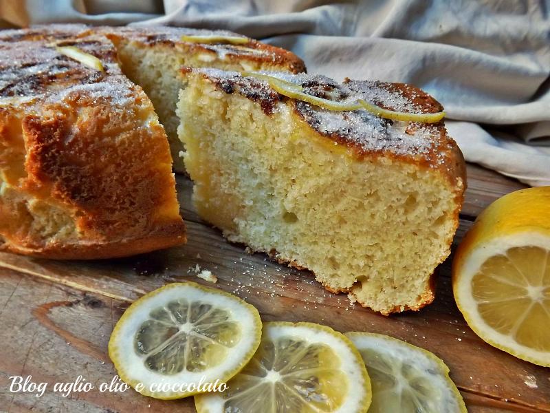 Torta ricotta e limone frullato