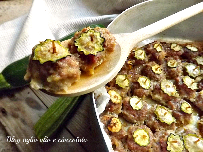 polpette e zucchine al forno