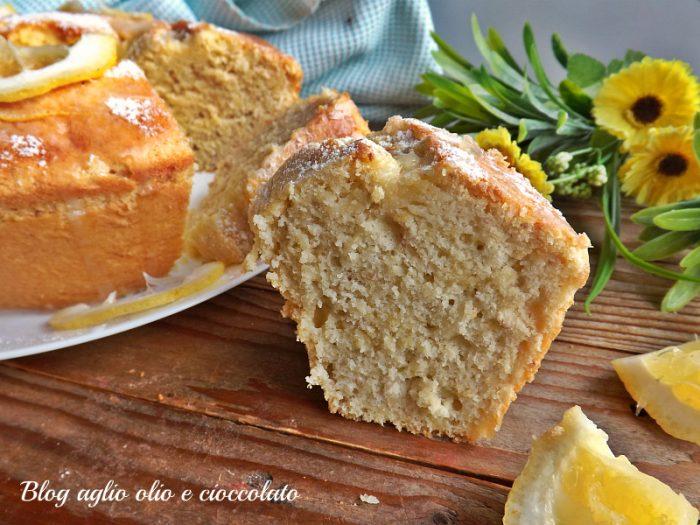 torta limone e mandorle frullata