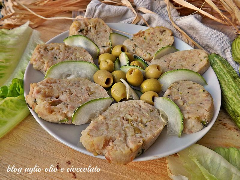polpettone  tonno zucchine e olive