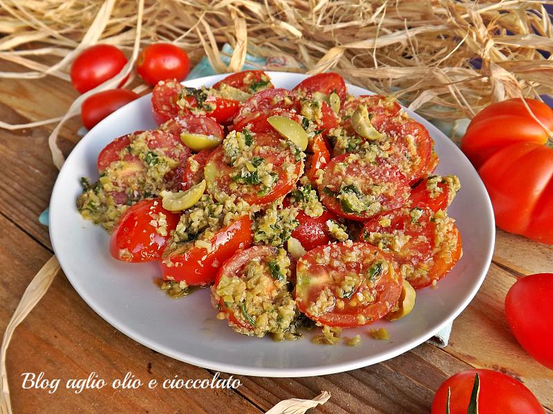 pomodori e olive cremosi