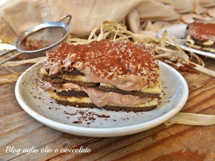 Torta con Crema al Latte Cioccolato e Mascarpone