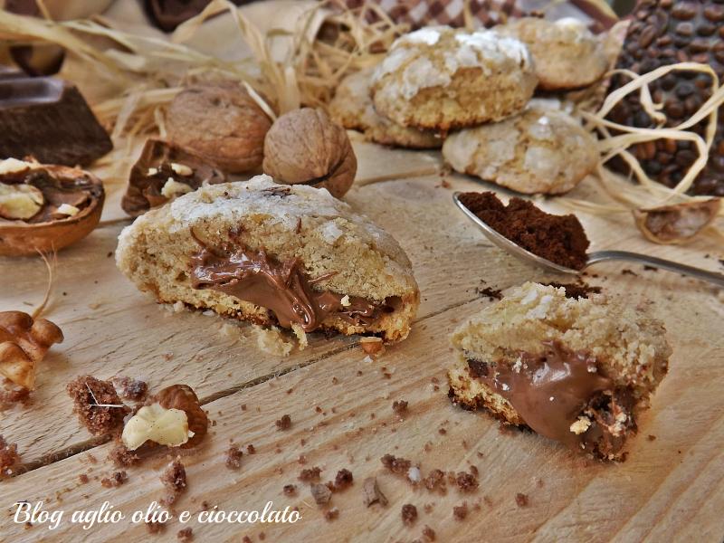 biscotti caffè noci e cioccolato