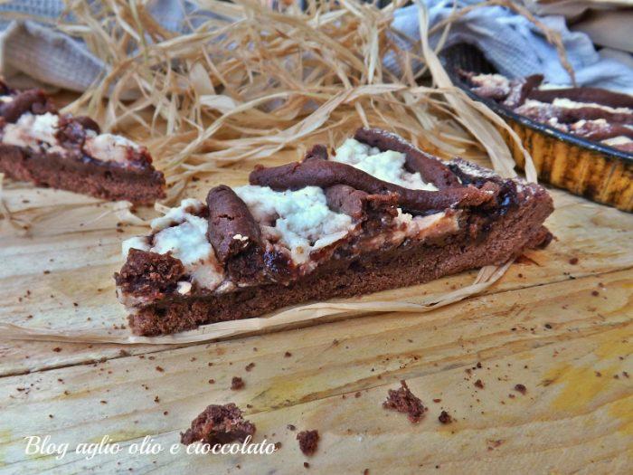 Crostata al Cioccolato Ricotta e Marmellata