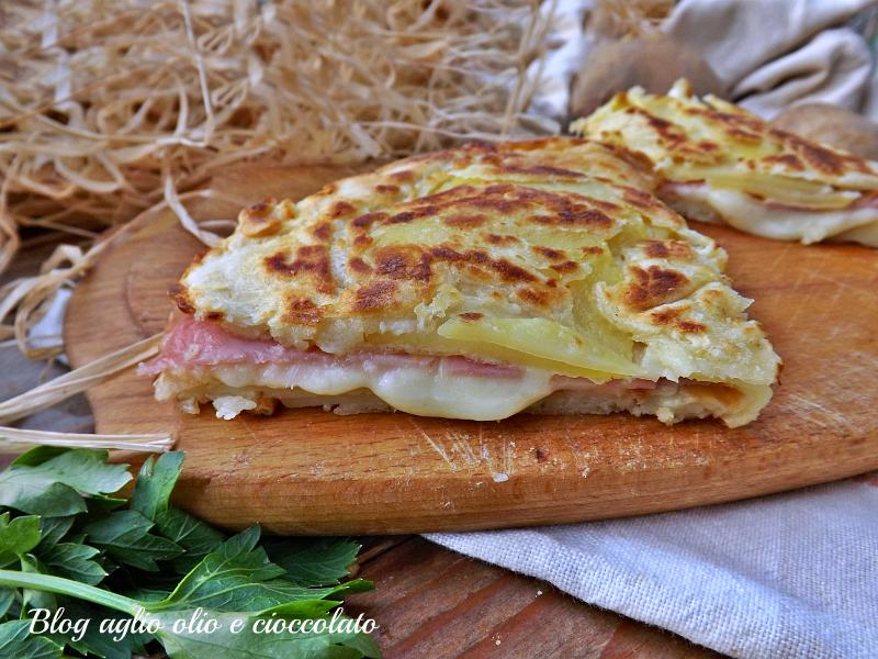 frittella di patate prosciutto e formaggio
