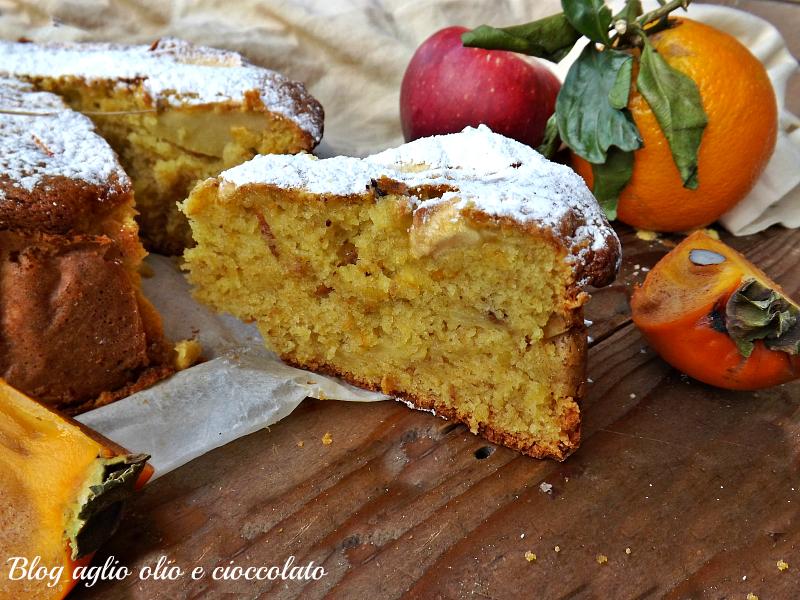 torta cachi arancia e mela