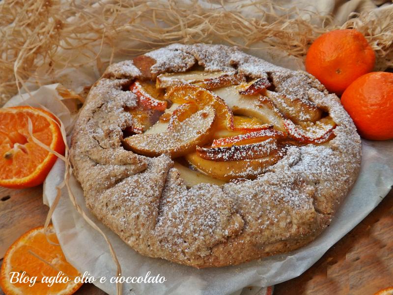 torta rustica mele e clementine