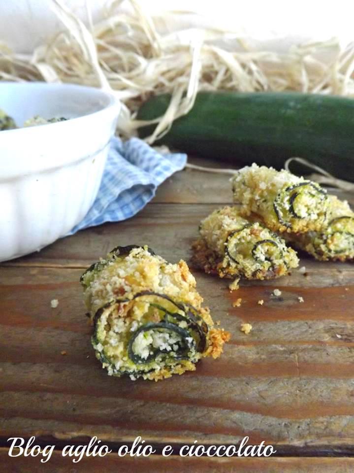 rotolini di zucchine croccanti al forno