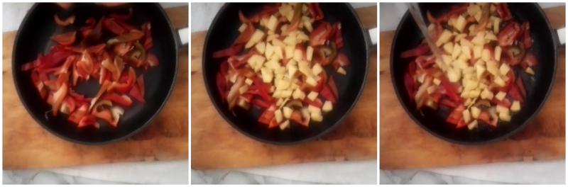 sfogliata  ricotta peperoni e patate