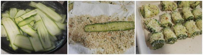 rotolini di zucchine croccanti al frono