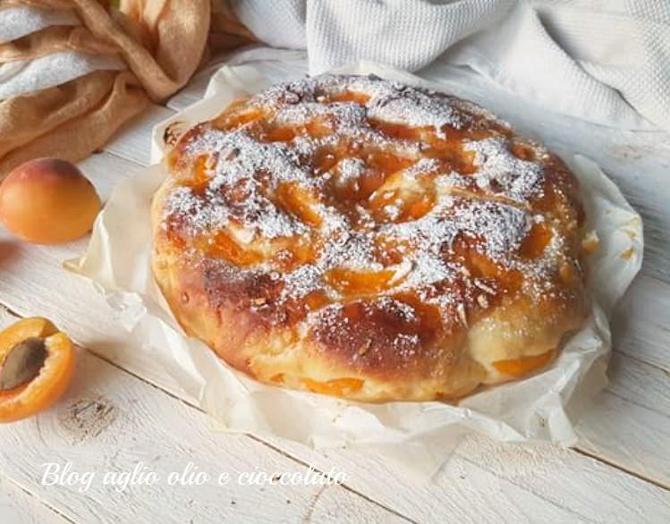 torta brioche all'acqua con albicocche